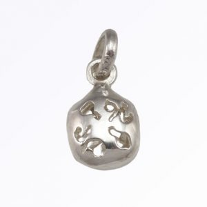 Fan Lucky Charm in Sterling Silver Custom Made