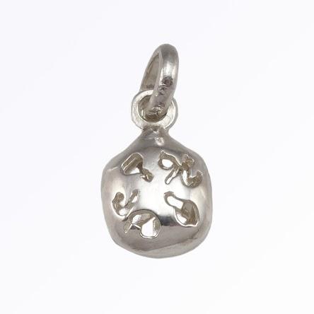 Fan Lucky Charm in Sterling Silver Custom Made