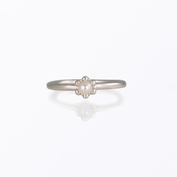 Pearl Signature Flower Bead Ring