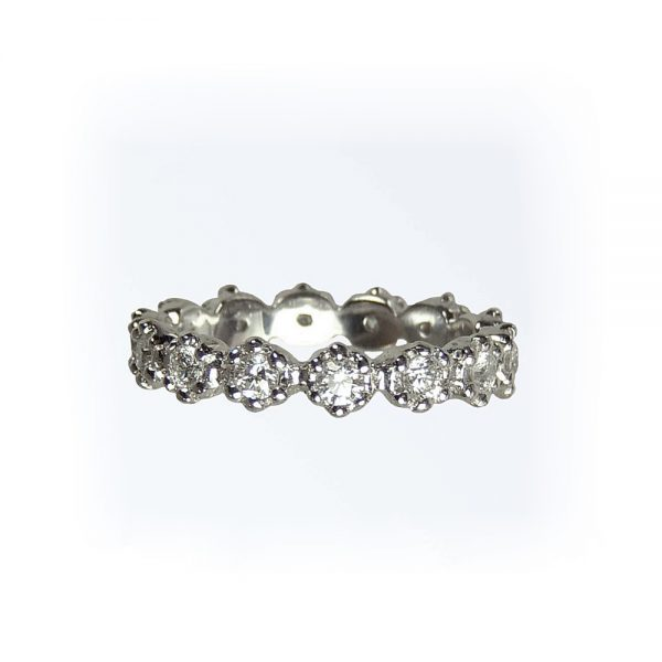 White Gold Britt Flower Eternity Band