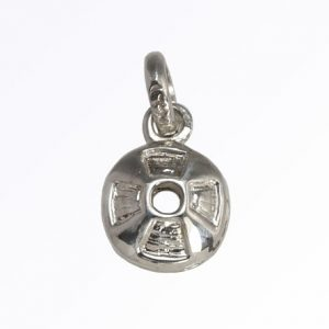 Disk Lucky Charm in Sterling Silver