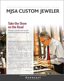 Featured in MJSA Custom Jeweler