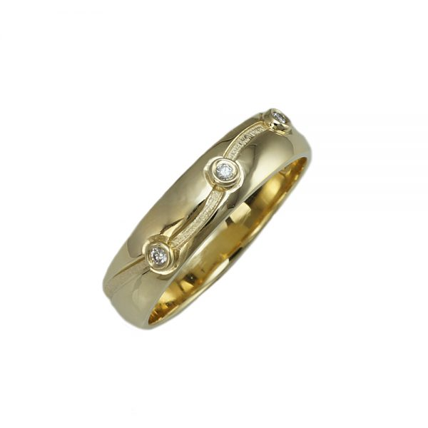 Tom Yellow Gold and Diamond wedding ring