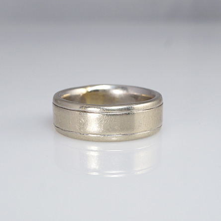 Jeff's White gold men's ring