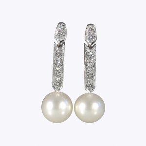 Amanda Pearl and Diamond Earrings