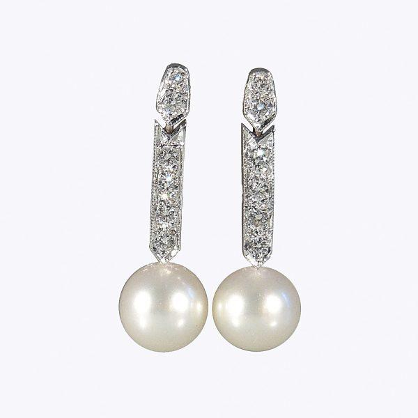 Amanda Pearl and Diamond Earrings