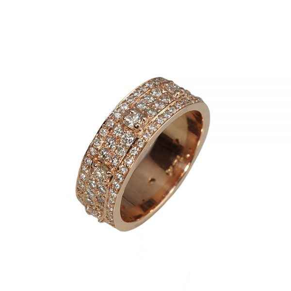 Bianca Rose Gold And Diamond Wedding Ring side