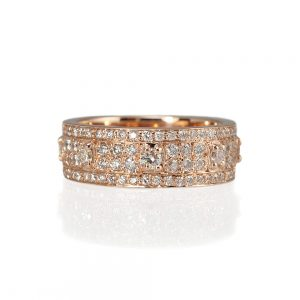 Bianca Rose Gold And Diamonds Wedding Ring