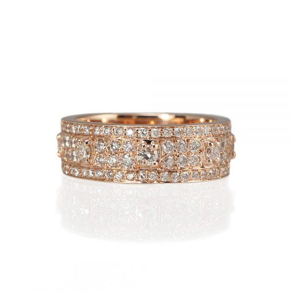 Bianca Rose Gold And Diamonds Wedding Ring