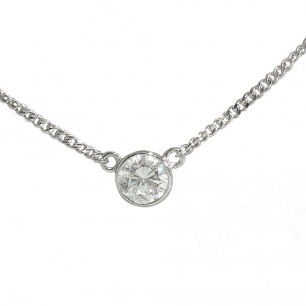 Cynthia britt diamond pendant on 14k white gold curb chain diamond pendant on curb chain custom made aloadofball Images
