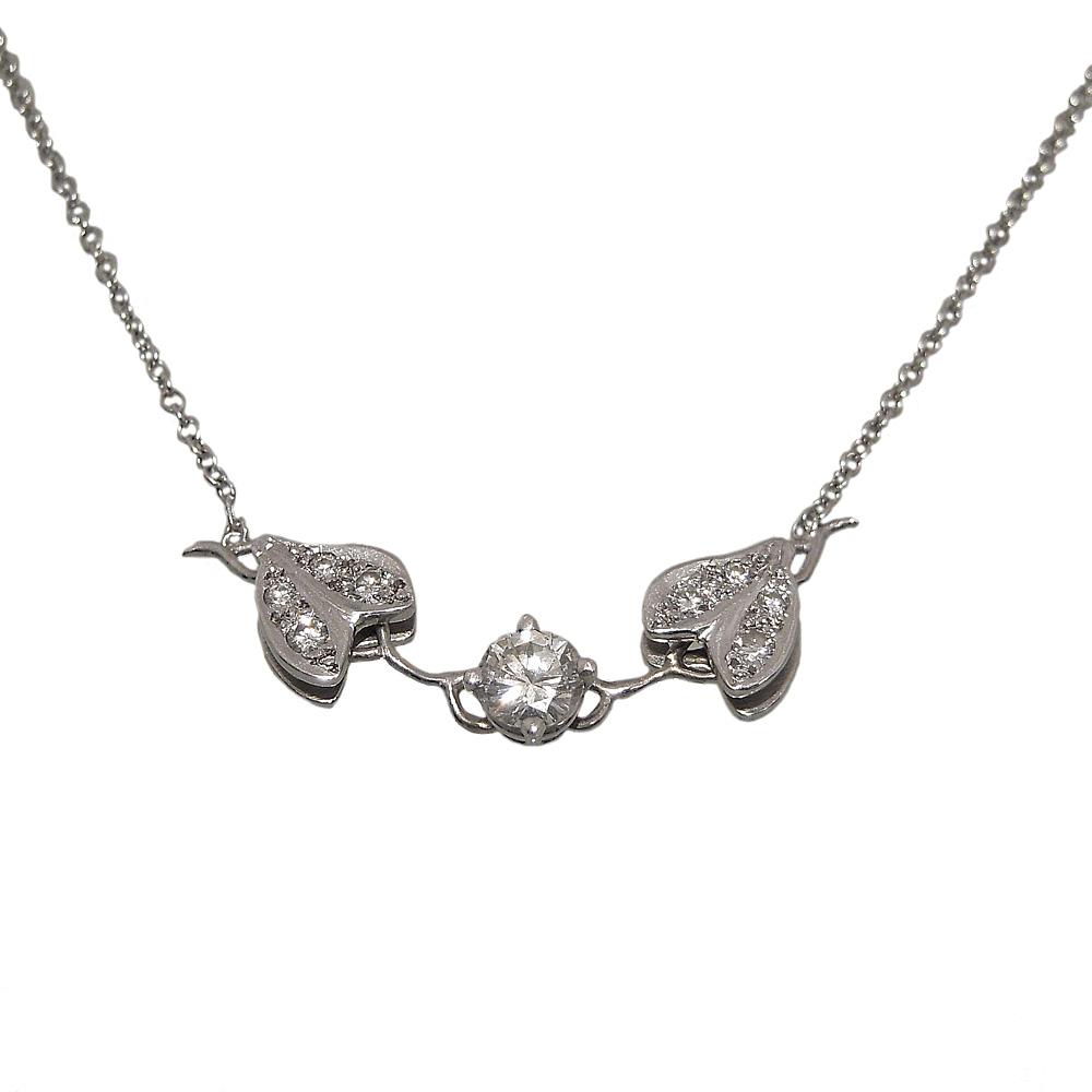 diamond vine necklace in 14k white gold cynthia britt. Black Bedroom Furniture Sets. Home Design Ideas