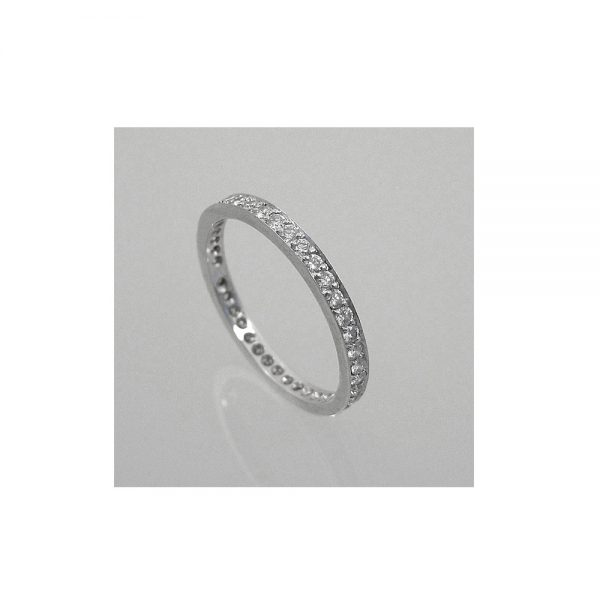 Hand Made Eternity Band side view