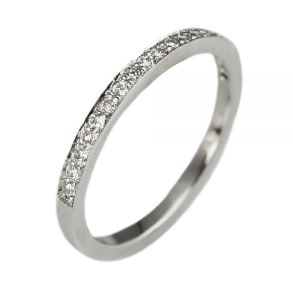 Custom Made Diamond Wedding Ring Side View