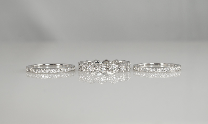 Custom Made Stacking Diamond Wedding Rings