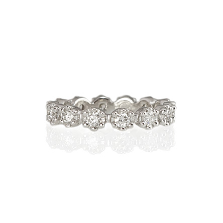 Custom made White gold and diamond flower band