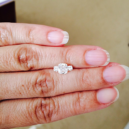 cushion cut diamond with cushion cut side diamonds