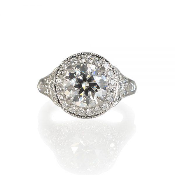 Danielle Custom Halo Diamond Engagement Ring-0
