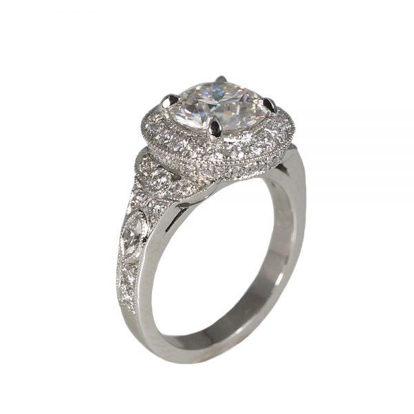 Danielle Custom Halo Diamond Engagement Ring-1381
