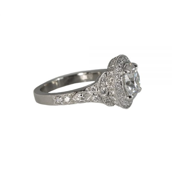 Danielle Custom Halo Diamond Engagement Ring-1382