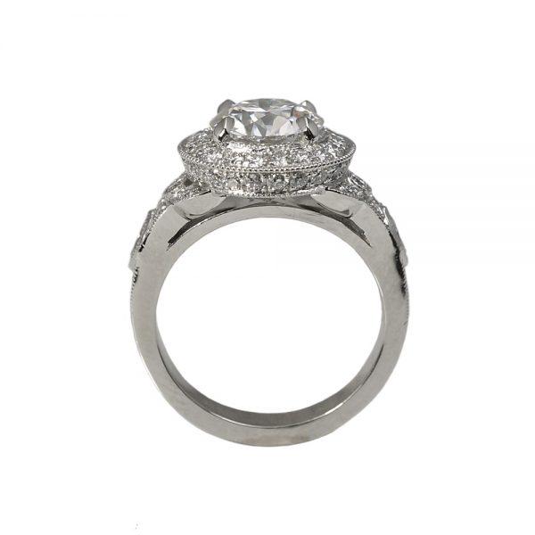 Danielle Custom Halo Diamond Engagement Ring-1380