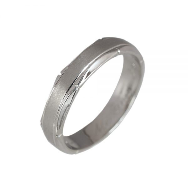 David Platinum Men's Wedding Ring-1419