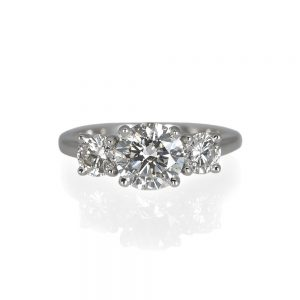 Kelsey Three Stone Platinum Engagement Ring-0