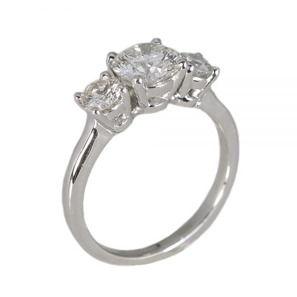 Kelsey Three Stone Platinum Engagement Ring-1409