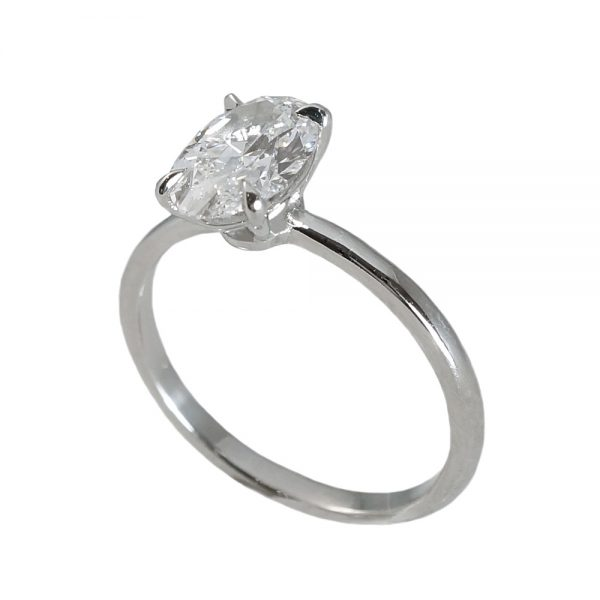 Laura Oval Solitaire Diamond Engagement Ring-1374