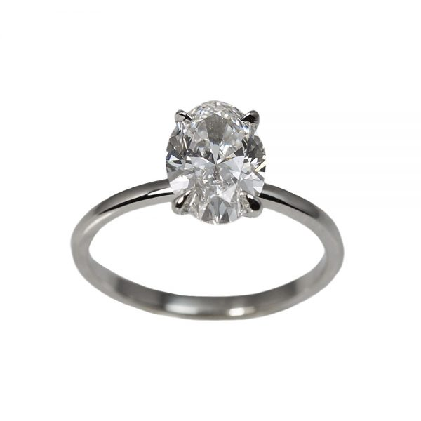 Laura Oval Solitaire Diamond Engagement Ring-1389