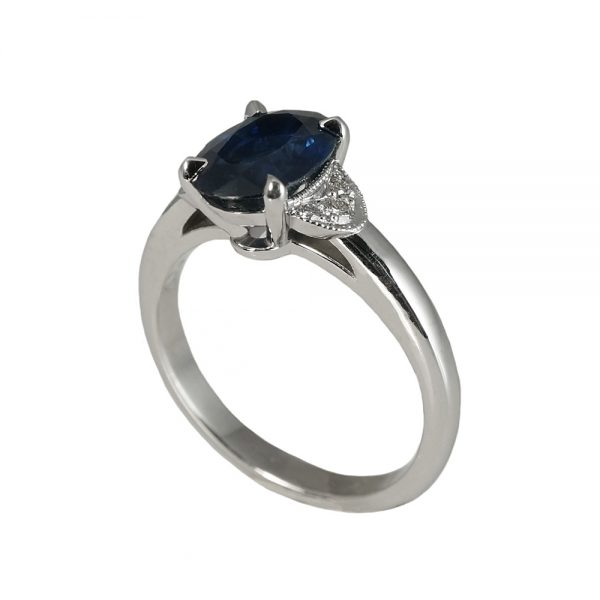 Magee Custom Sapphire and Diamond Engagement Ring-1377