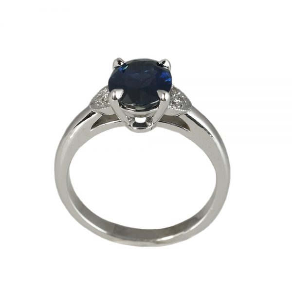 Magee Custom Sapphire and Diamond Engagement Ring-1376