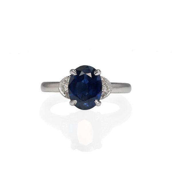 Magee Custom Sapphire and Diamond Engagement Ring-0
