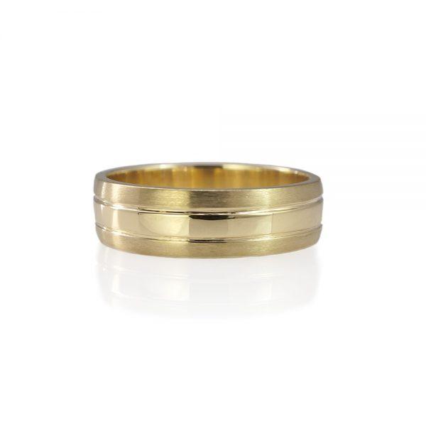 Olaf Yellow Gold Men's Wedding Ring-0