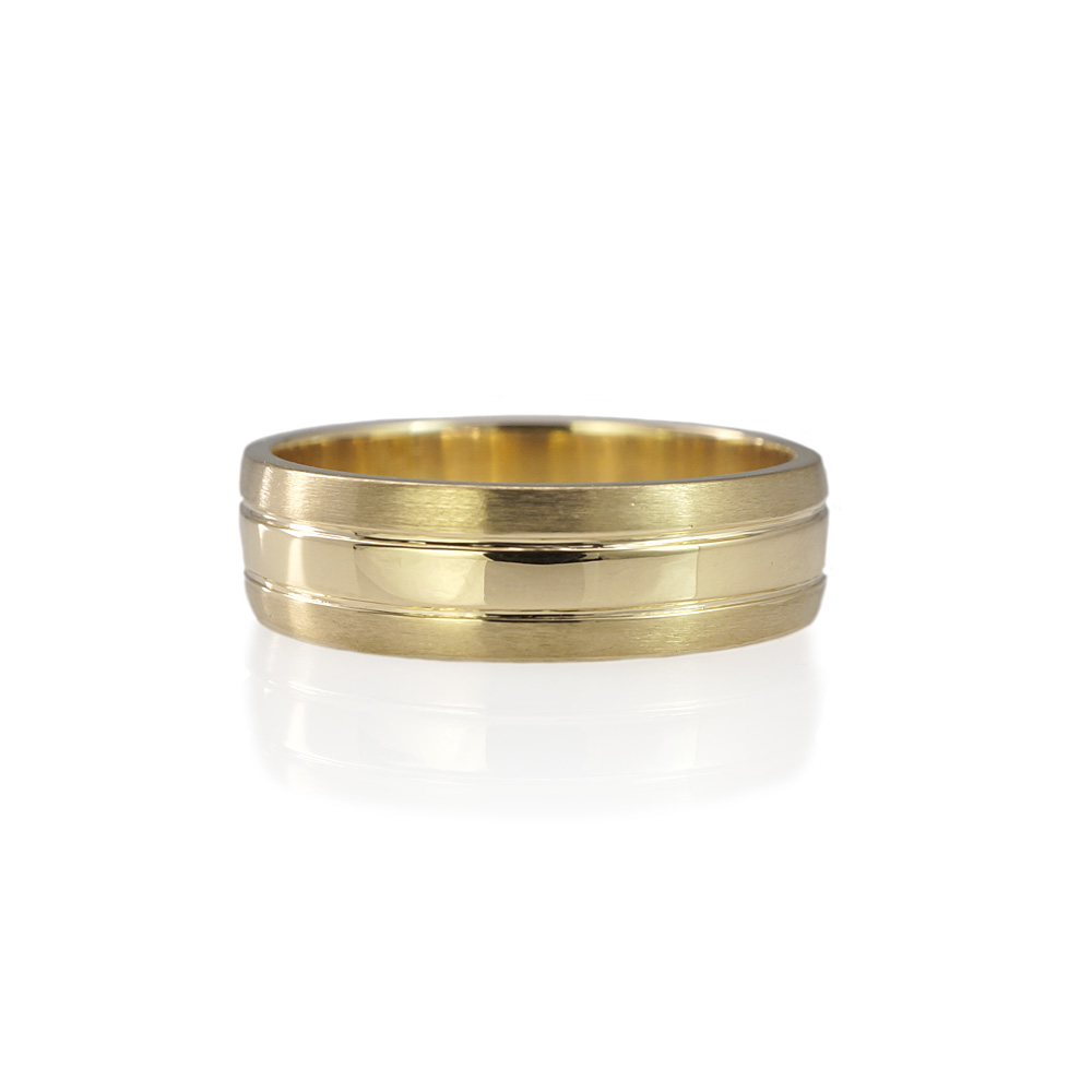Olaf Yellow Gold Men S Wedding Ring 0
