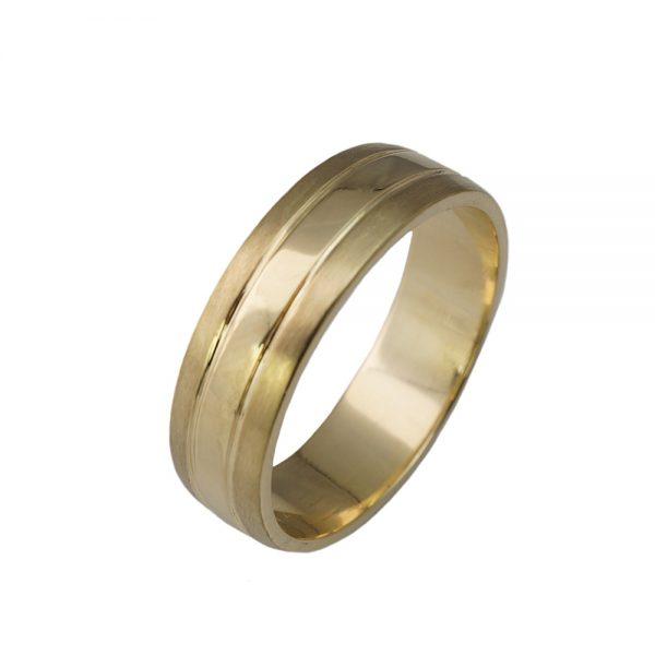 Olaf Yellow Gold Men's Wedding Ring-1425