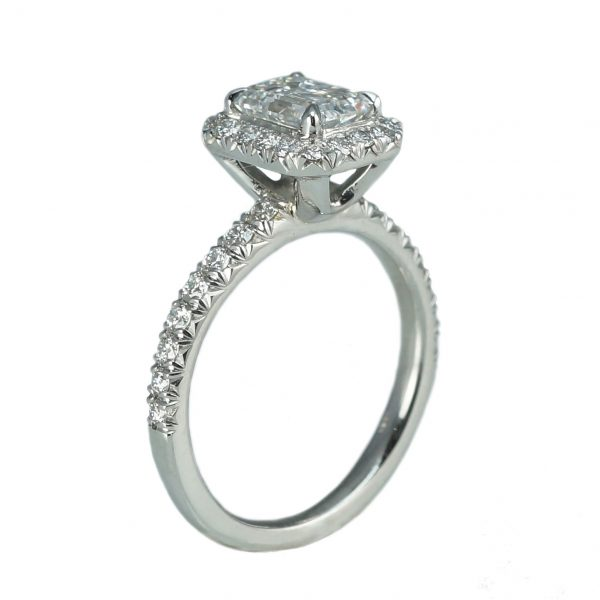 Roxana Custom Halo Diamond Engagement Ring-1385
