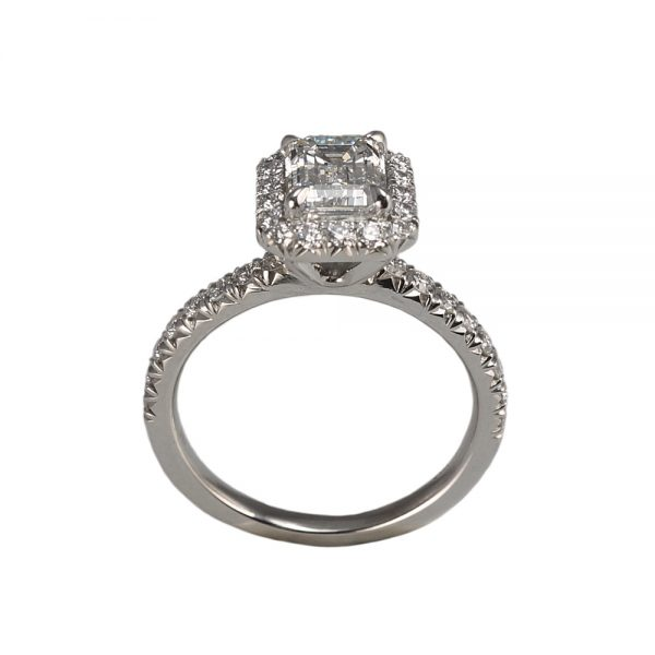 Roxana Custom Halo Diamond Engagement Ring-1384
