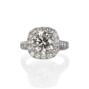 Tracey Custom Halo Diamond Engagement Ring-0