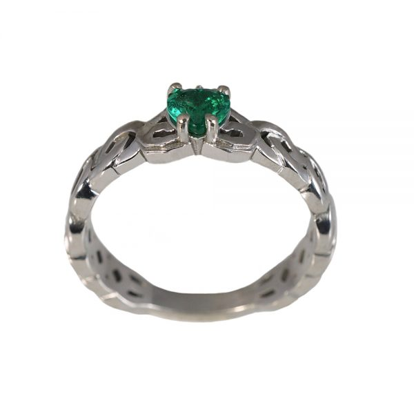 Kali Emerald Claddagh Promise Ring-1461
