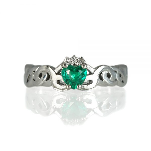 Kali Emerald Claddagh Promise Ring-0