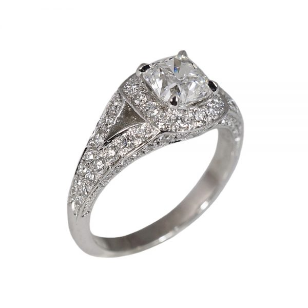 Karen Split Shank Halo Diamond Engagement Ring-1499