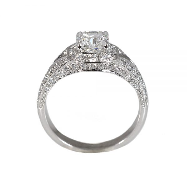 Karen Split Shank Halo Diamond Engagement Ring-1498