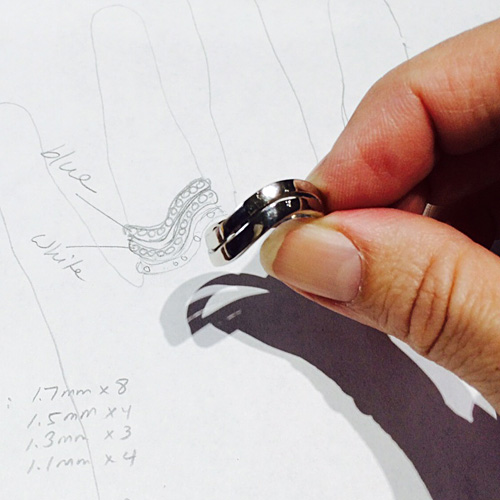 hand made custom engagement ring