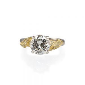 Emily Golden Leaf Engagement Ring-0