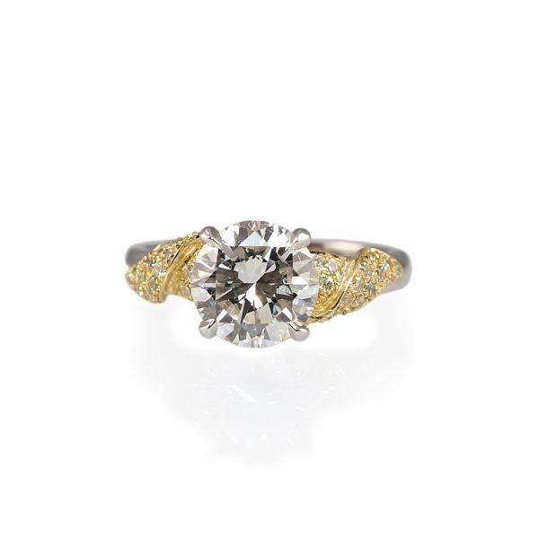 Emily Golden Leaf Engagement Ring-0