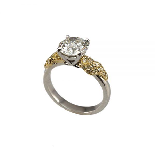 Emily Golden Leaf Engagement Ring-1681