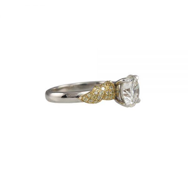 Emily Golden Leaf Engagement Ring-1682