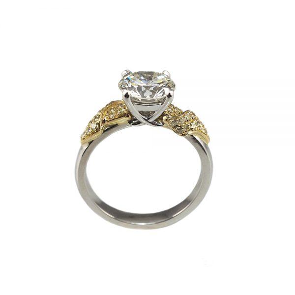 Emily Golden Leaf Engagement Ring-1680