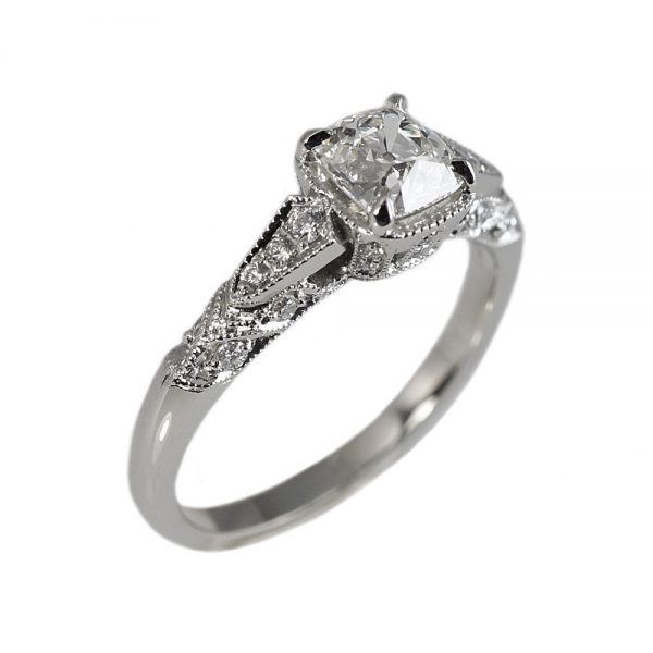 Jillian Antique Look Engagement Ring-1543