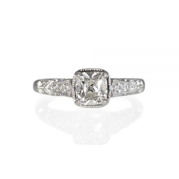 Jillian Antique Look Engagement Ring-0